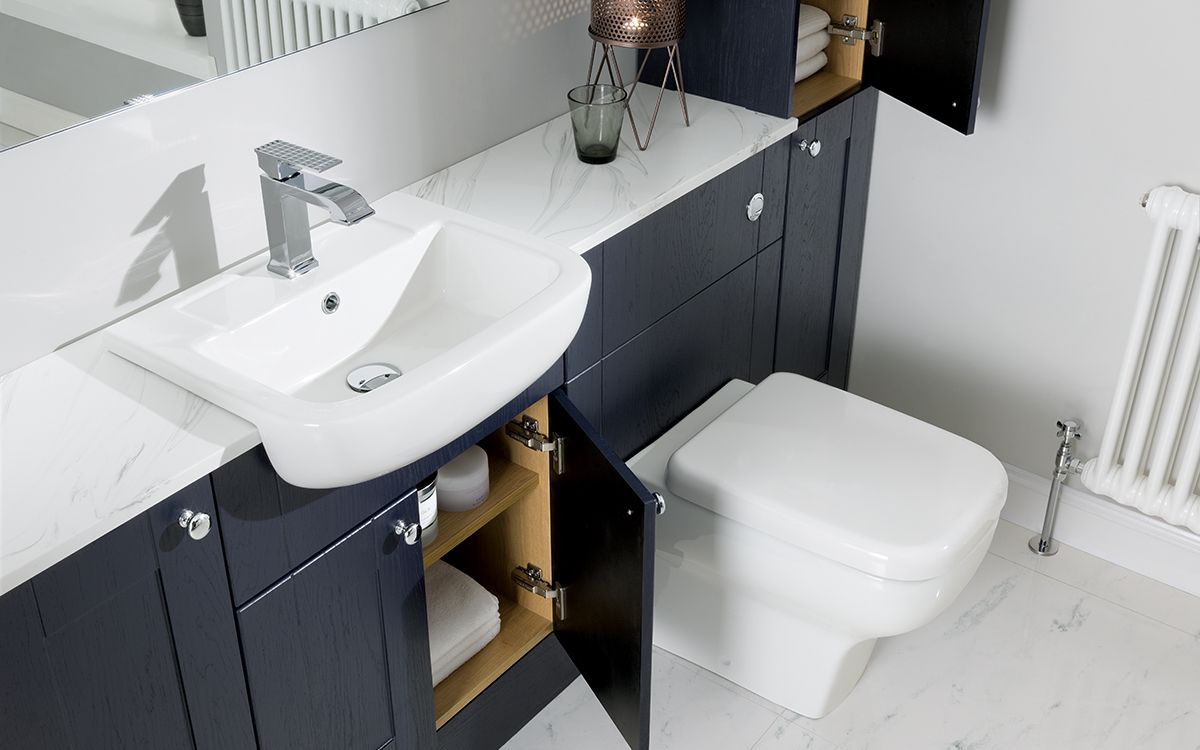 Marietta Semi Recessed Basin Fitted Bathroom Furniture Bathroom