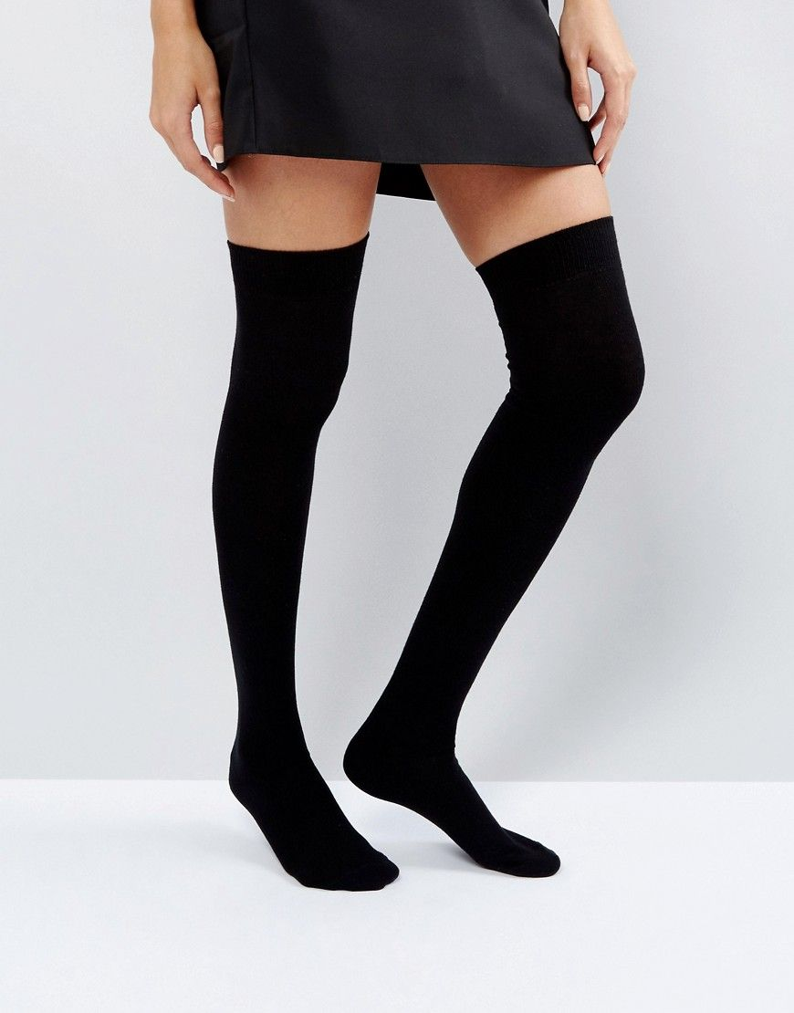 8cd39931c ASOS Thigh High Socks - Black