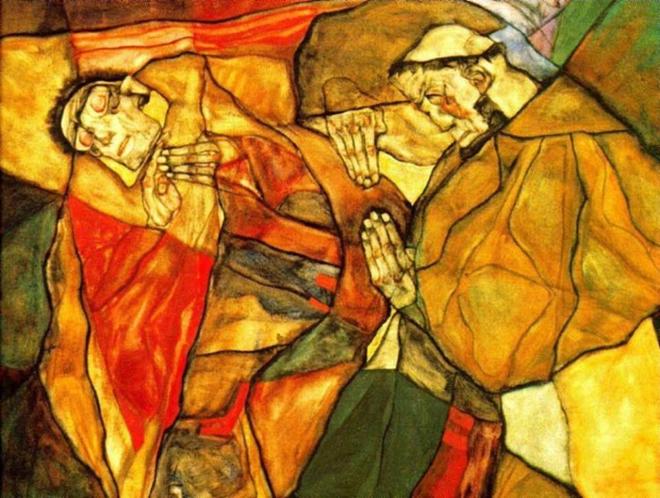 Egon Schiele Agony 1912 Dibujos Arte Gustav Klimt