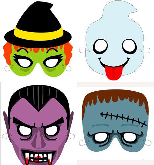 Mascaras De Halloween Para Imprimir En 2020 Mascaras Halloween