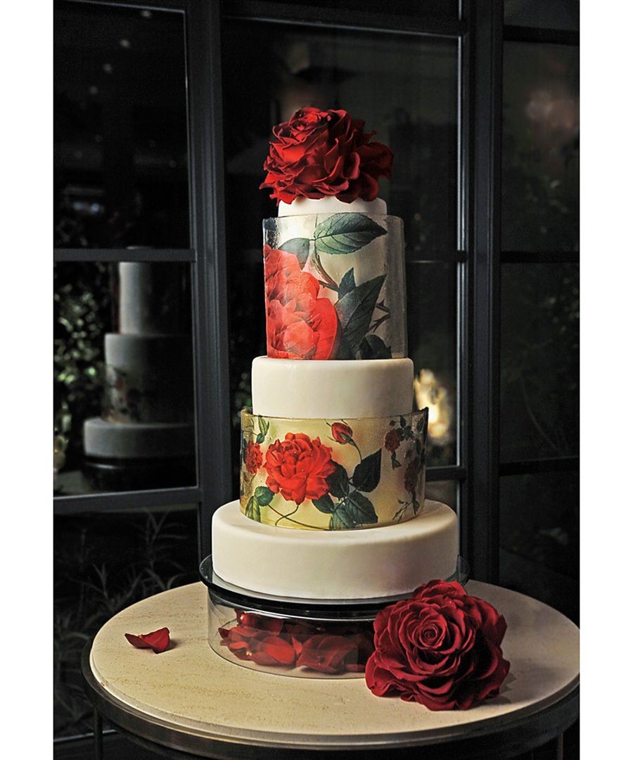 Pictures the fanciest wedding cakes ever rose wedding cakes rose