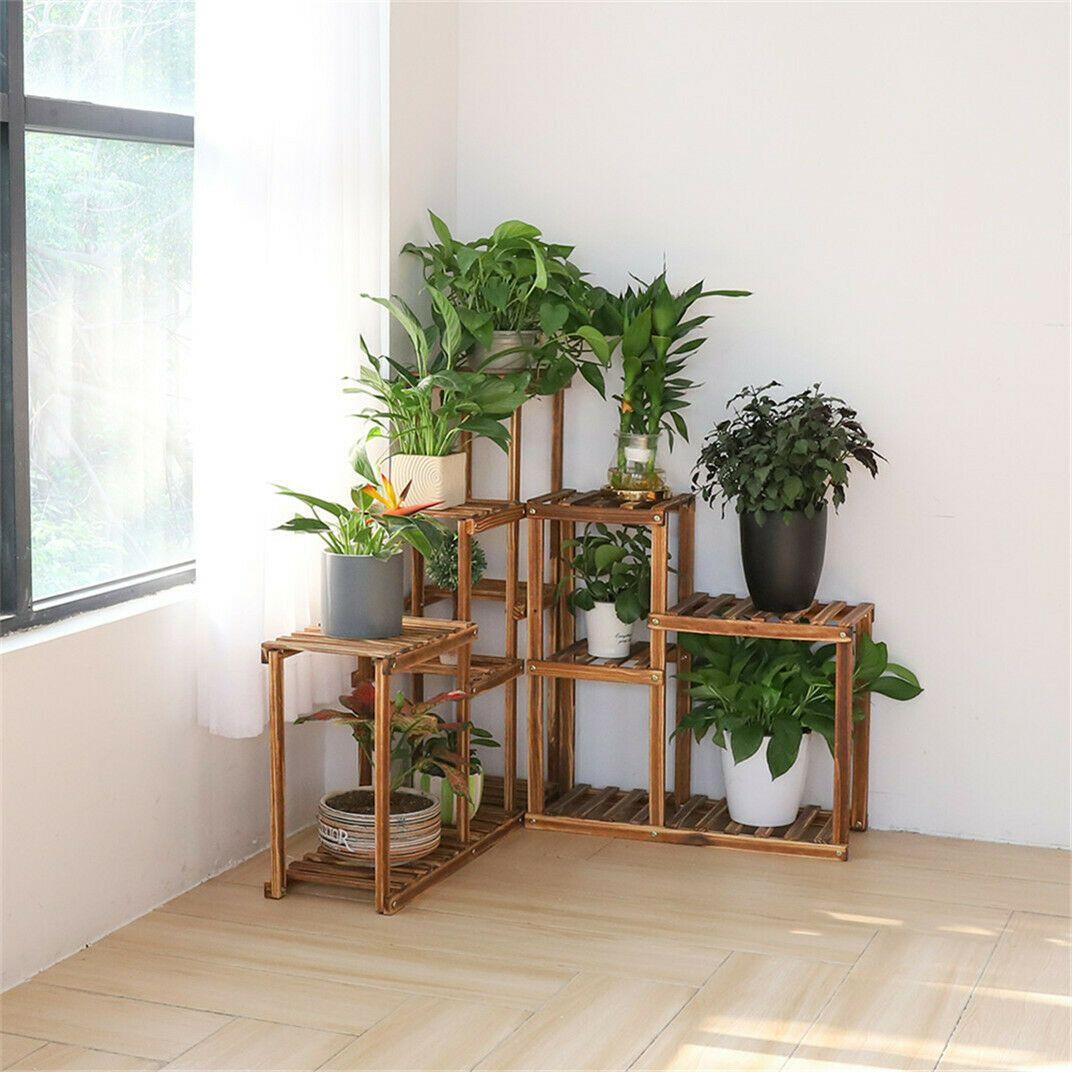 2in1 Wood Plant Stand Shelf Rack Flower Pot Holder Wall Corner Living Room Decor Plant Holder Ideas Of Pl Wall Plant Holder Plant Stand Indoor Corner Plant