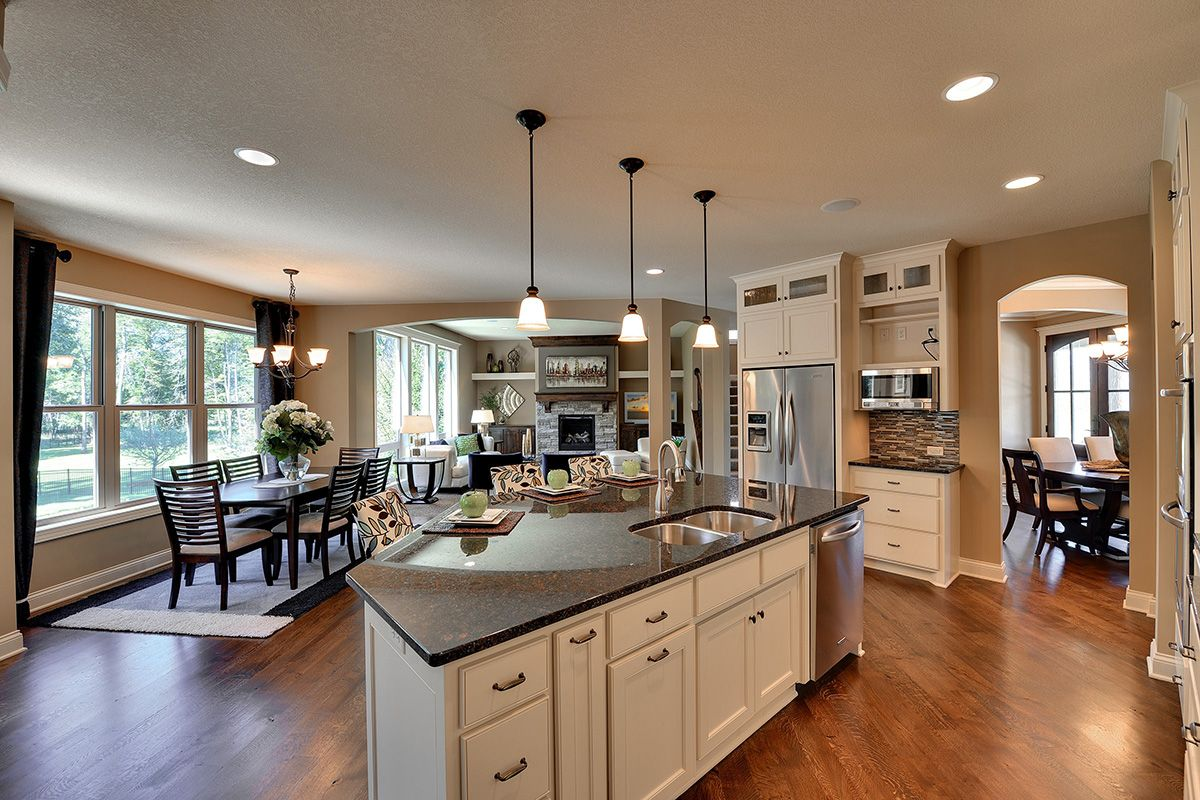 Plan 73325hs Craftsman Jaw Dropper Kitchen Remodel Home Kitchens Craftsman Living Rooms Kitchen open to great room