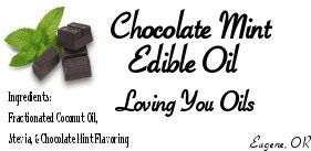Chocolate Mint Edible Oil, Inspired by Nature by LovingYouOilsAndMore on Etsy