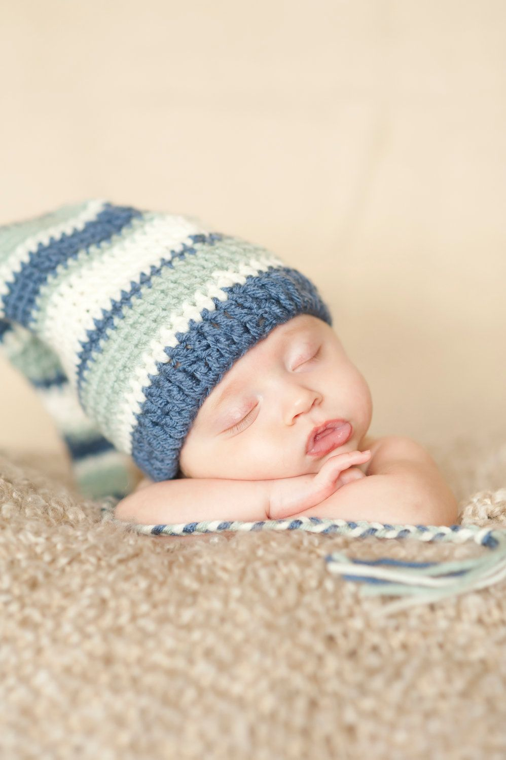 Crochet Baby Stocking Cap Pattern : Crochet Pattern, Stockign Cap, Pattern for photo prop or ...