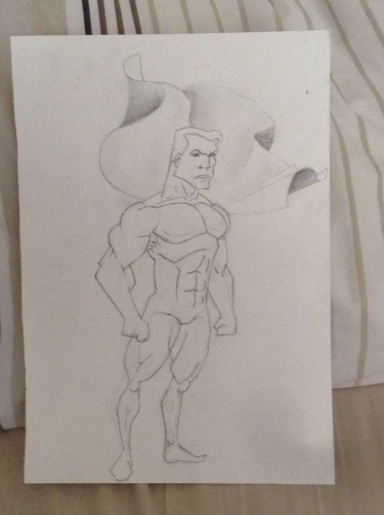 My art drawing of a superhero :P