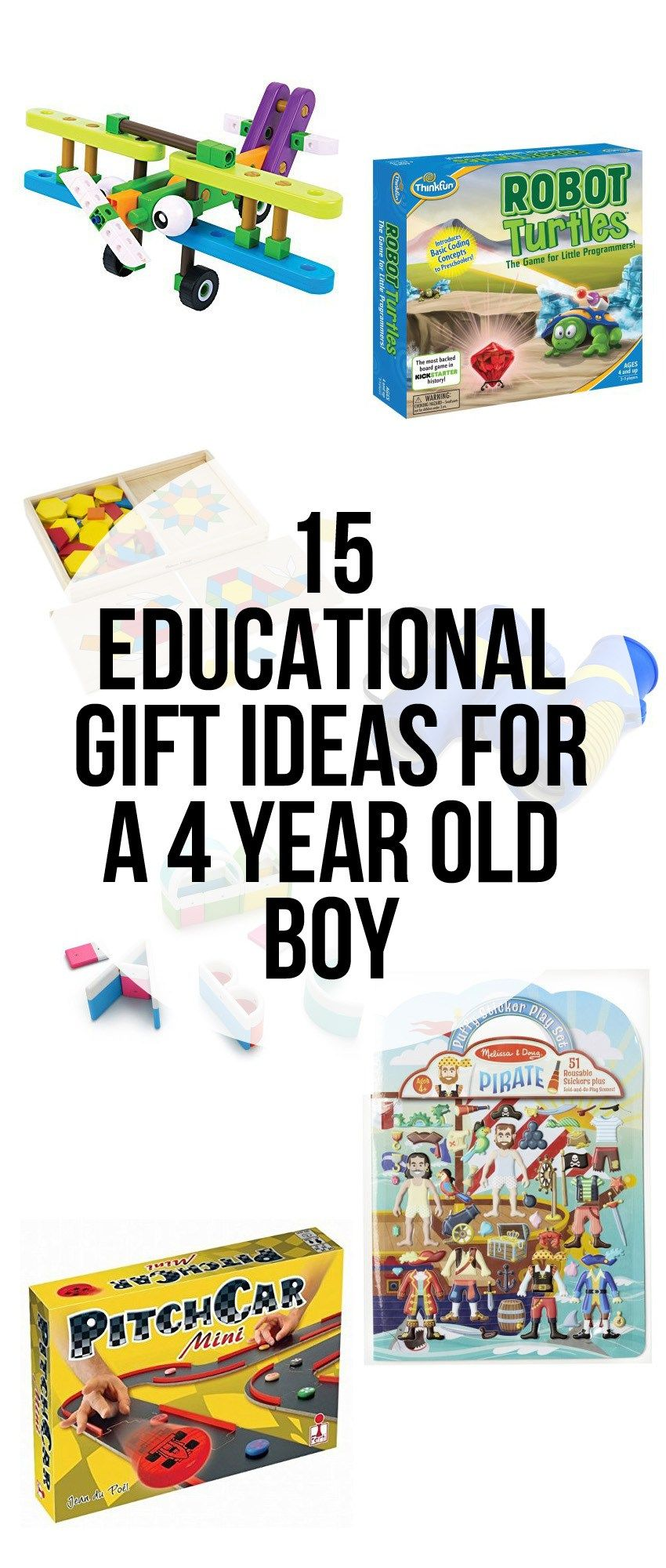 15 Educational Gift Ideas for a 4 Year Old Boy | 4 year ...