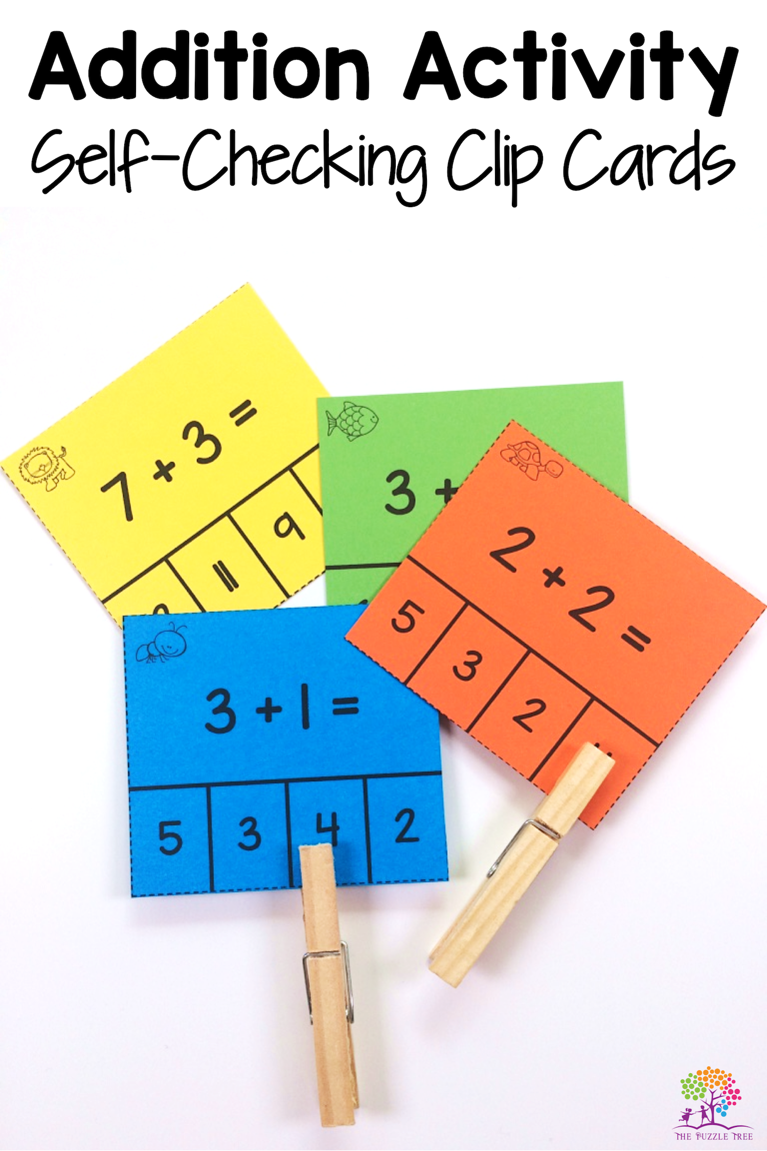 Addition Clip Cards For Teaching And Revising Basic