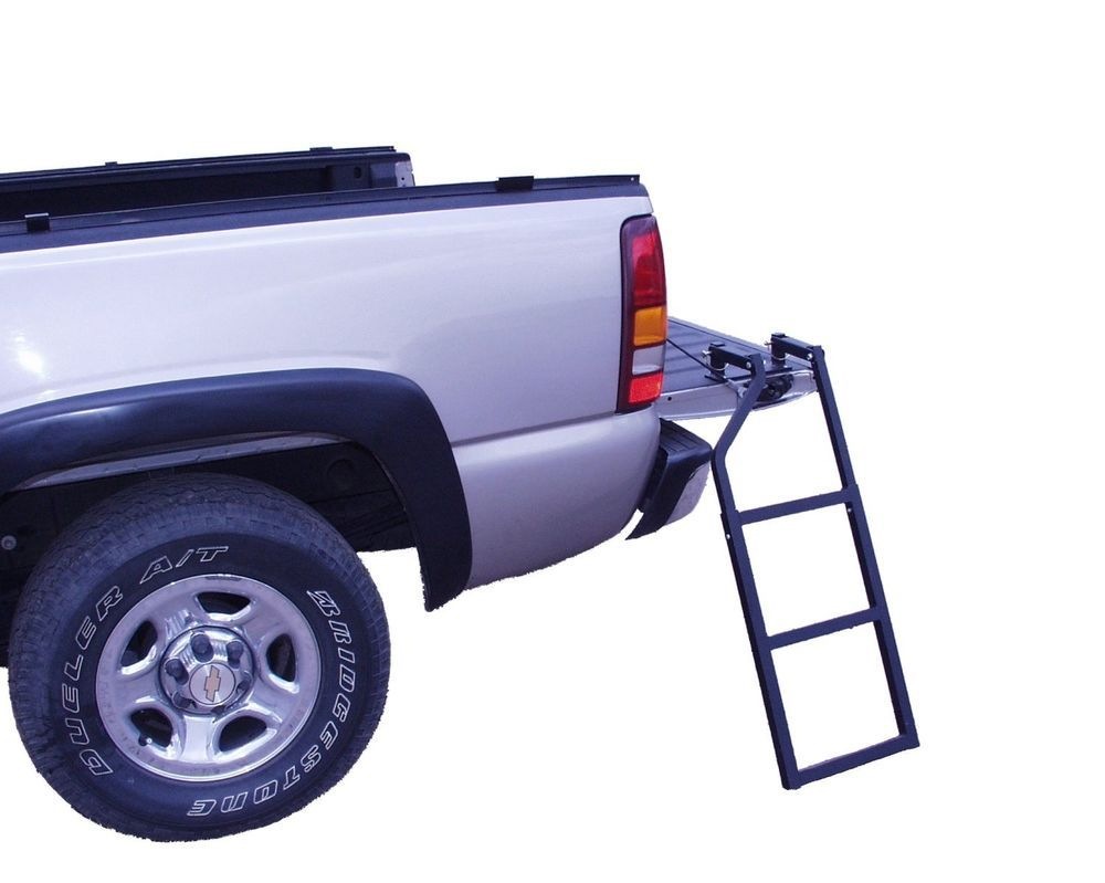 Truck tailgate ladder traxion tools work steps cargo automotive parts new go shop home garden