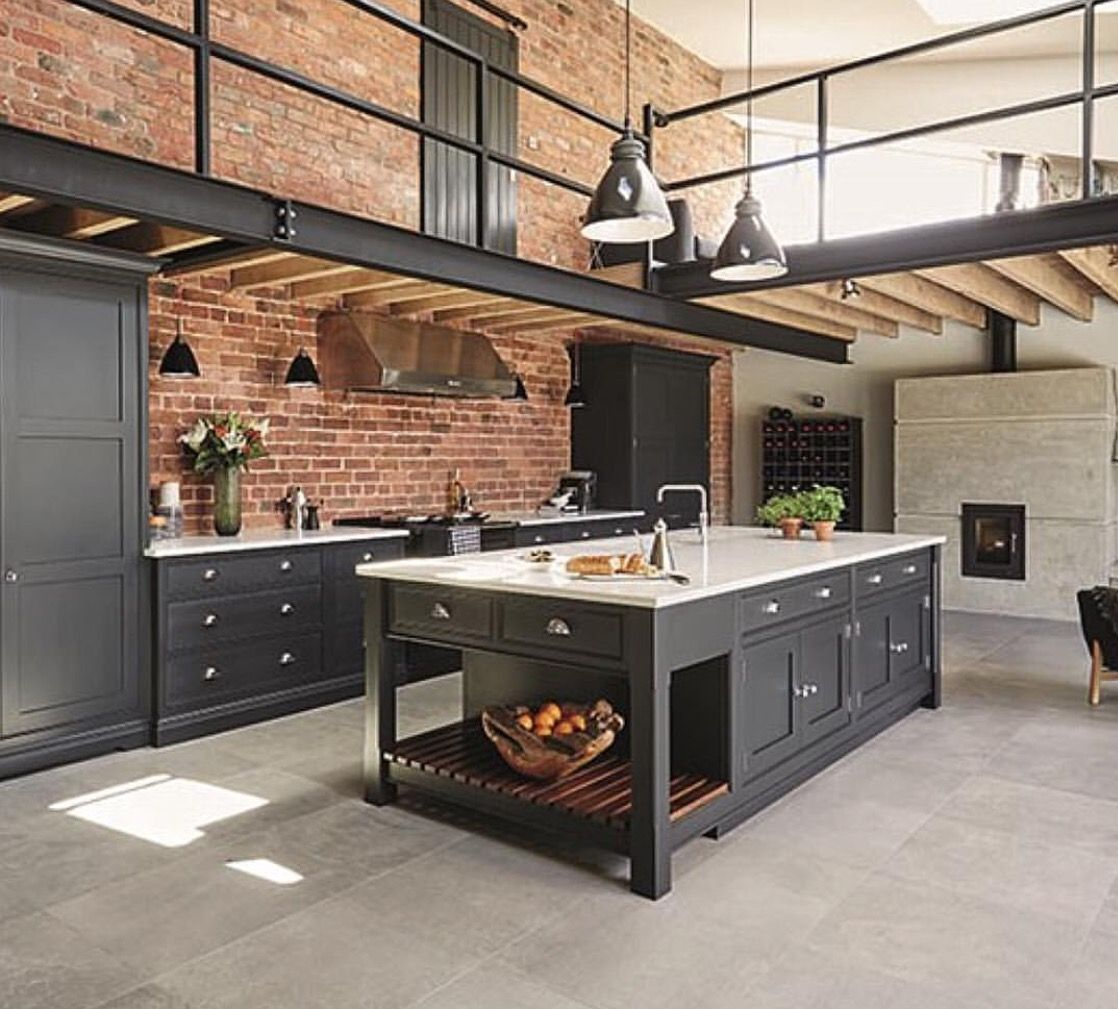 Industrial Style Kitchen Island: Pin By Ness Callery On House