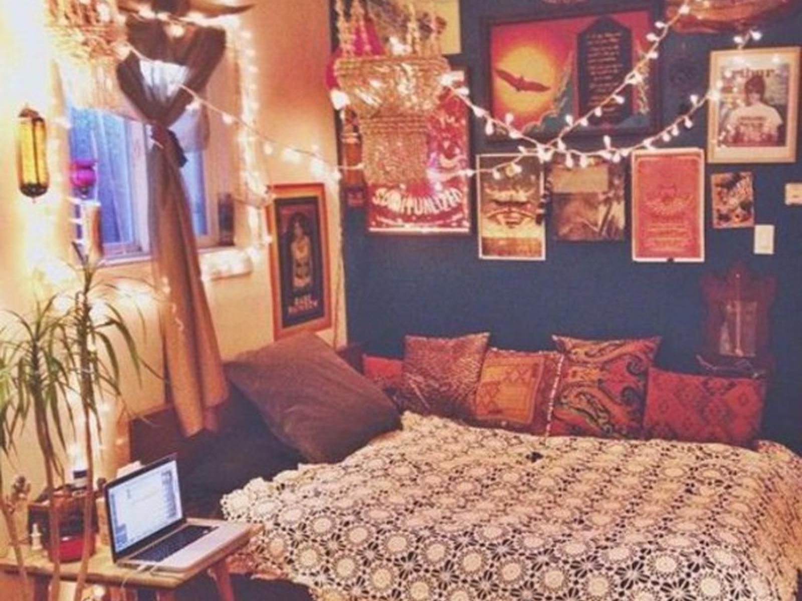 26+ Colorful Boho Bedroom Decor Diy images