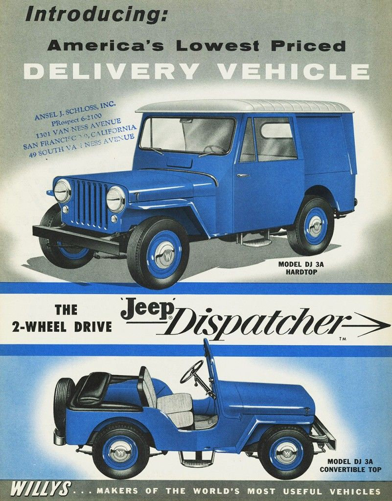1956 Jeep Willys Dispatcher Ad Willys Jeep Willys Jeep