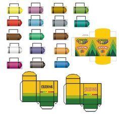 Miniature Crayola Crayons printable | Rhonda\'s mini printables ...