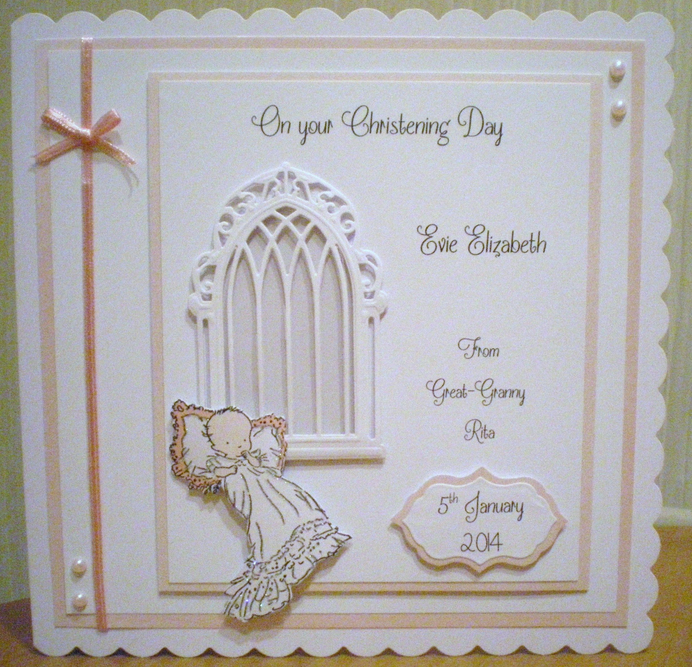 Скрапбукинг открытки на крестины