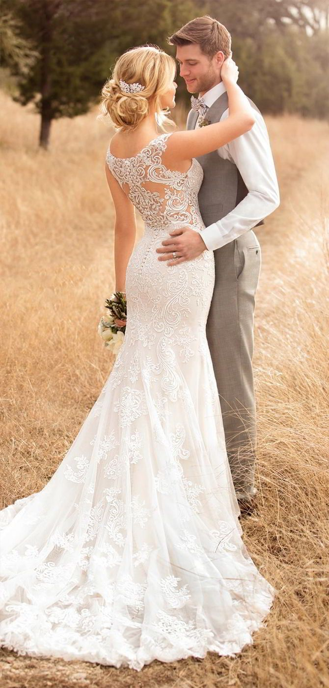 Essense of Australia Fall 2017 Wedding Dresses | Backless gown, Long ...