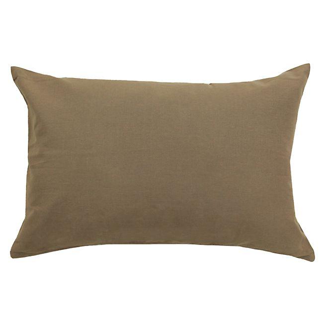Almera Taie de coussin en coton marron 40x60cm