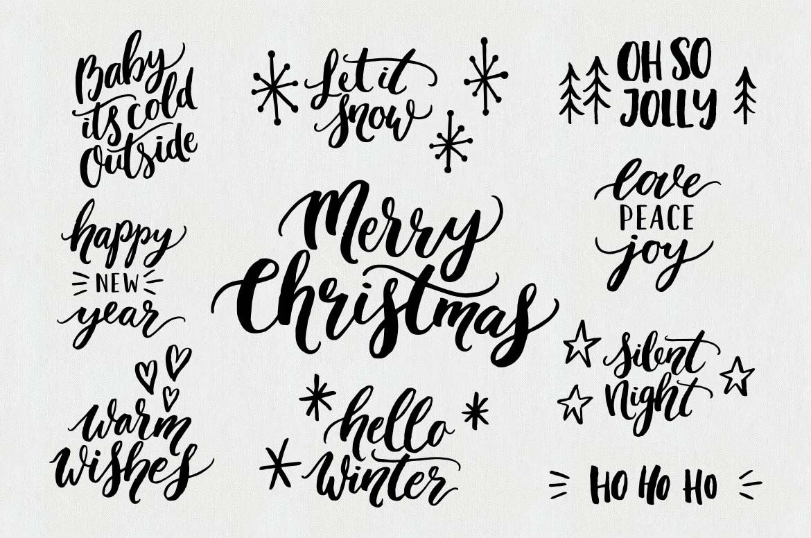Christmas Overlays Quotes Clipart By Skyla Design On