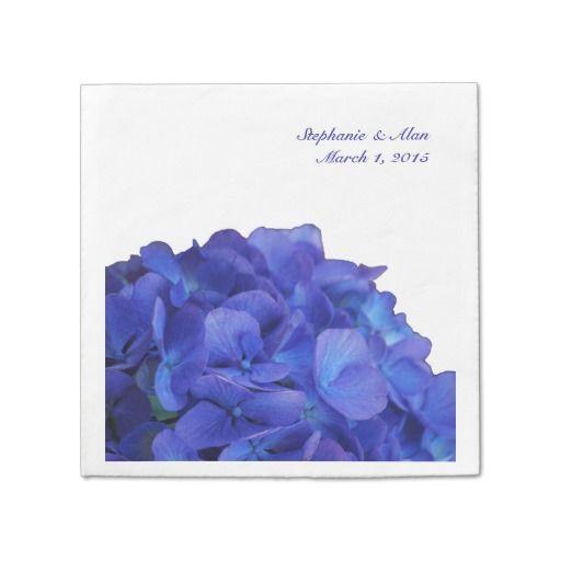 Purple Hydrangea Wedding Paper Napkins