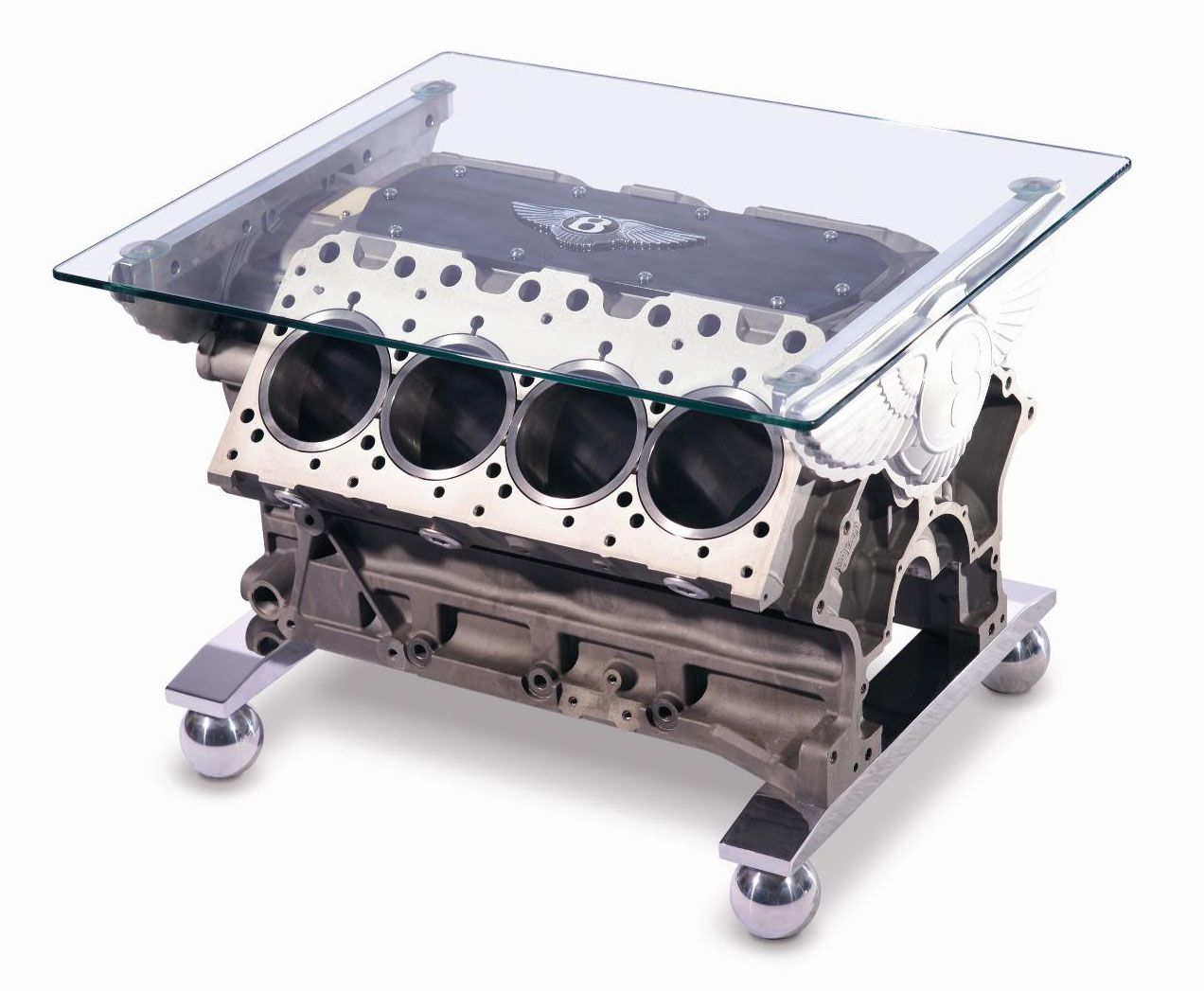 Unique furniture unique automotive furniture by bentley bentley engine block coffee table i would love to have this in my room geotapseo Images
