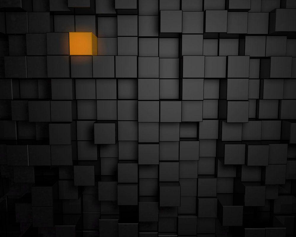 Orange Cube Wallpaper By Nidoyam Wallpaper Cube Hd Wallpaper
