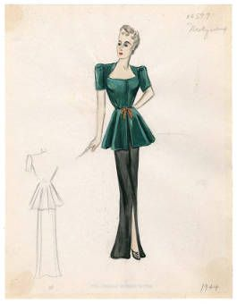 Bergdorf Goodman sketches : Molyneux 1940-1949 :: Costume Institute