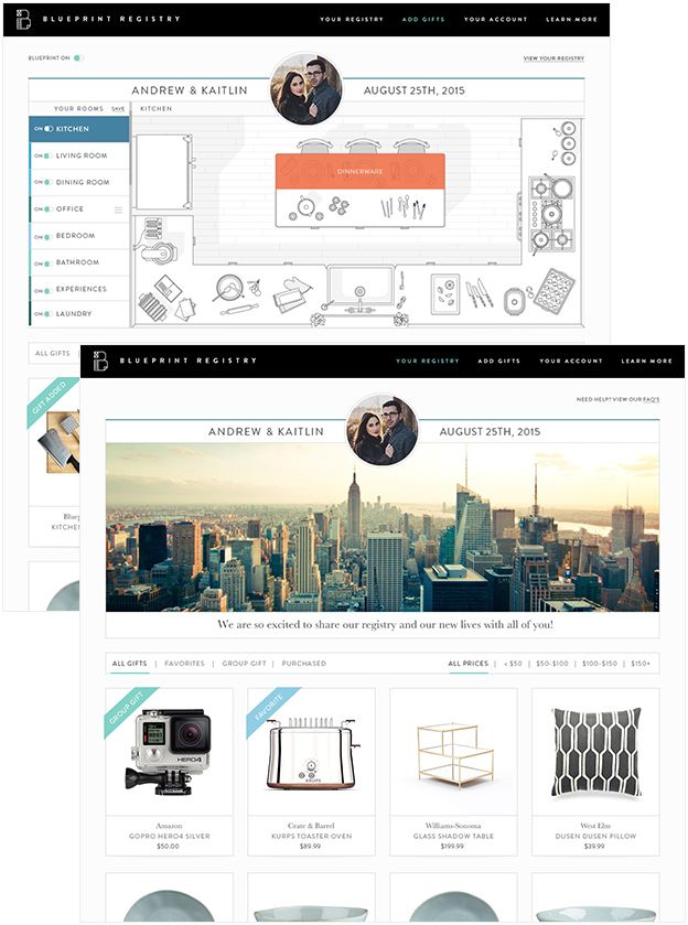 Blueprint registry an innovative wedding registry were hitched blueprint registry an innovative wedding registry malvernweather