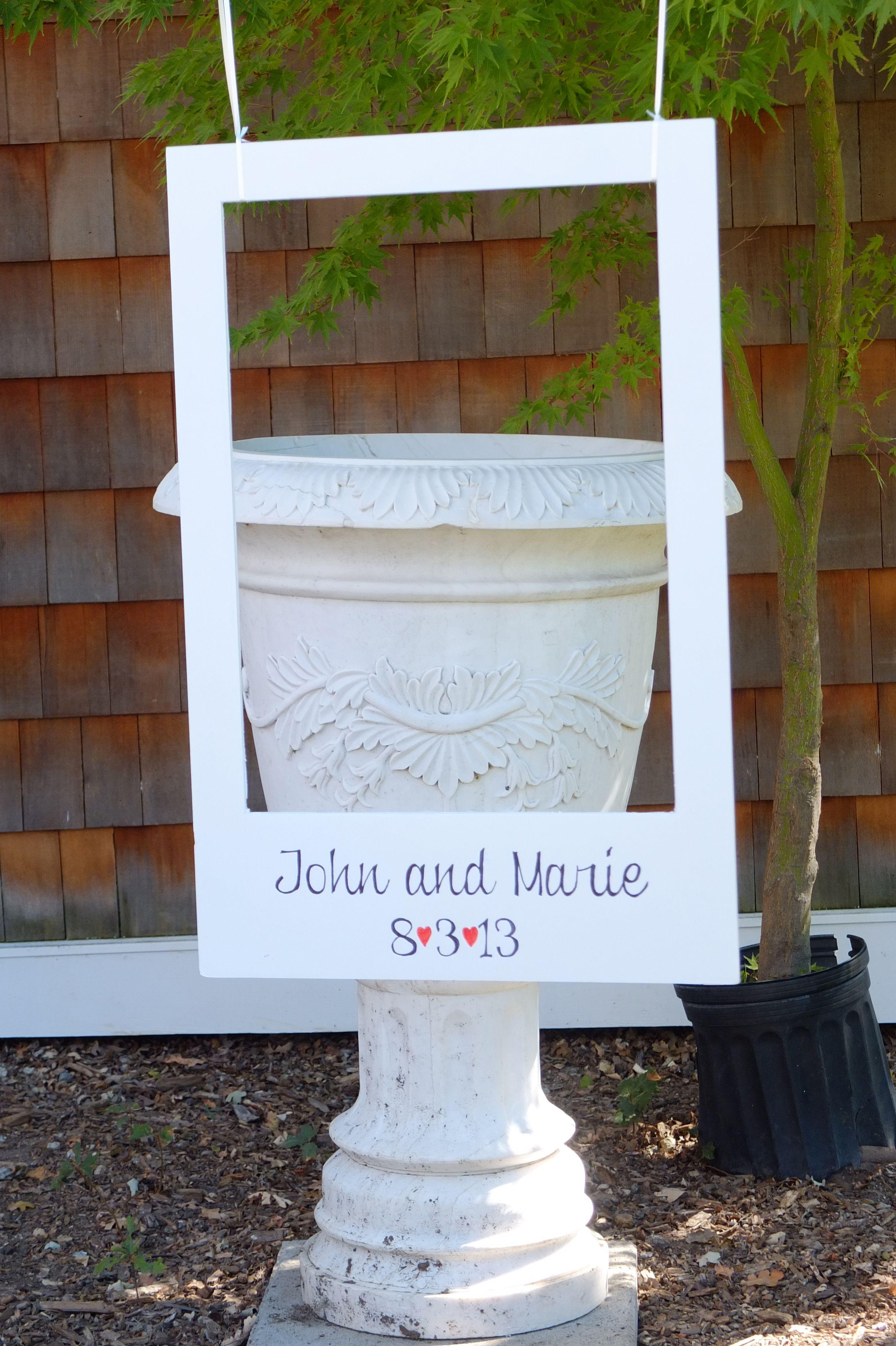 Create Your Own Photo Booth With A Polaroid Frame Weddingideasnow