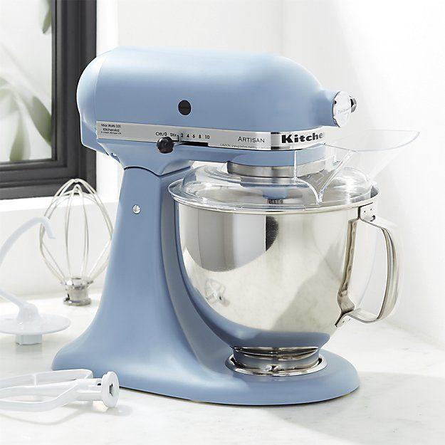 Kitchenaid Artisan Blue Velvet 5 Quart Tilt Head Stand Mixer Reviews Crate And Barrel Kitchen Aid Kitchen Aid Mixer Kitchen Aid Mixer Attachments