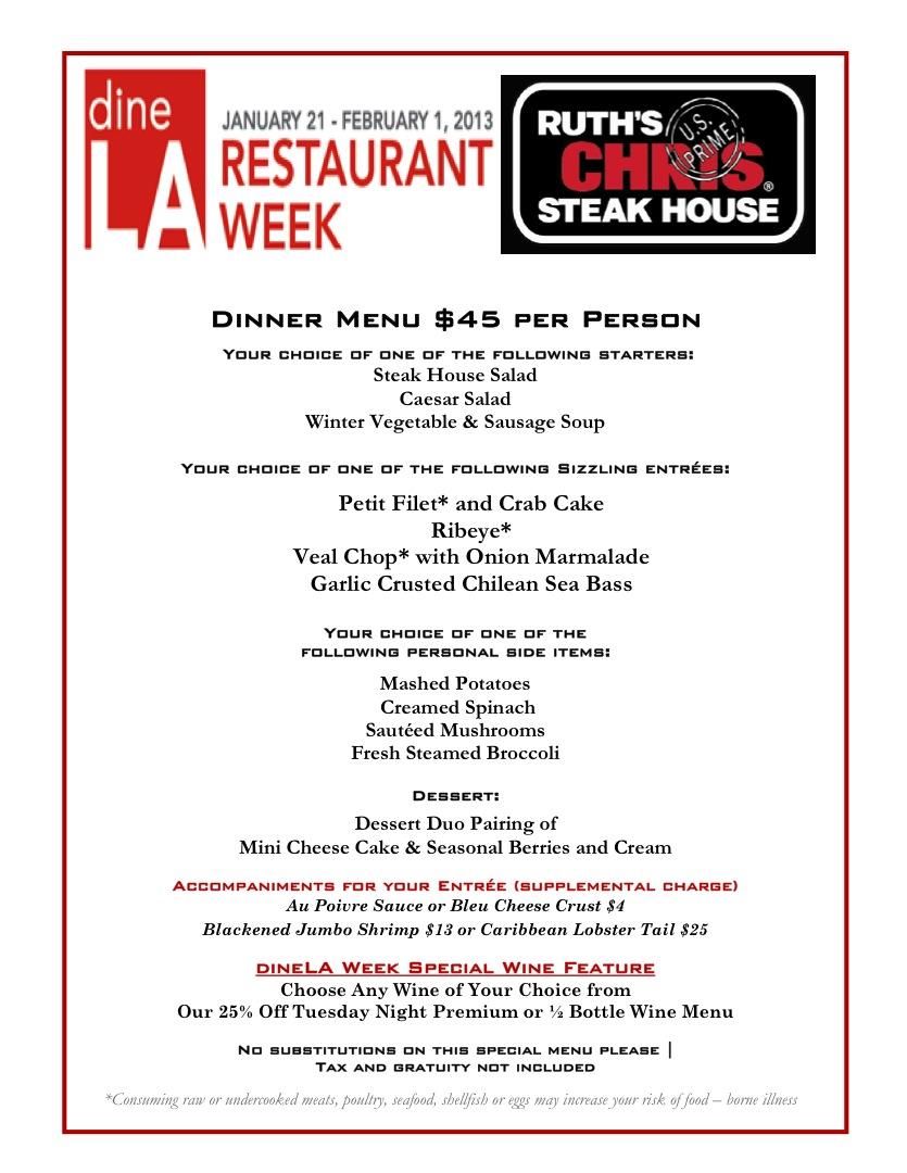 Ruth Chris Steak House Recipes