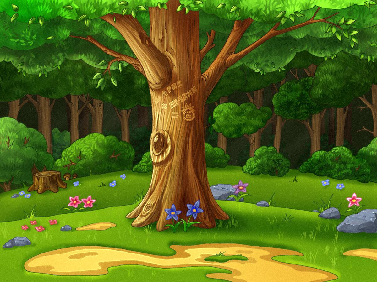 Лес из мультиков