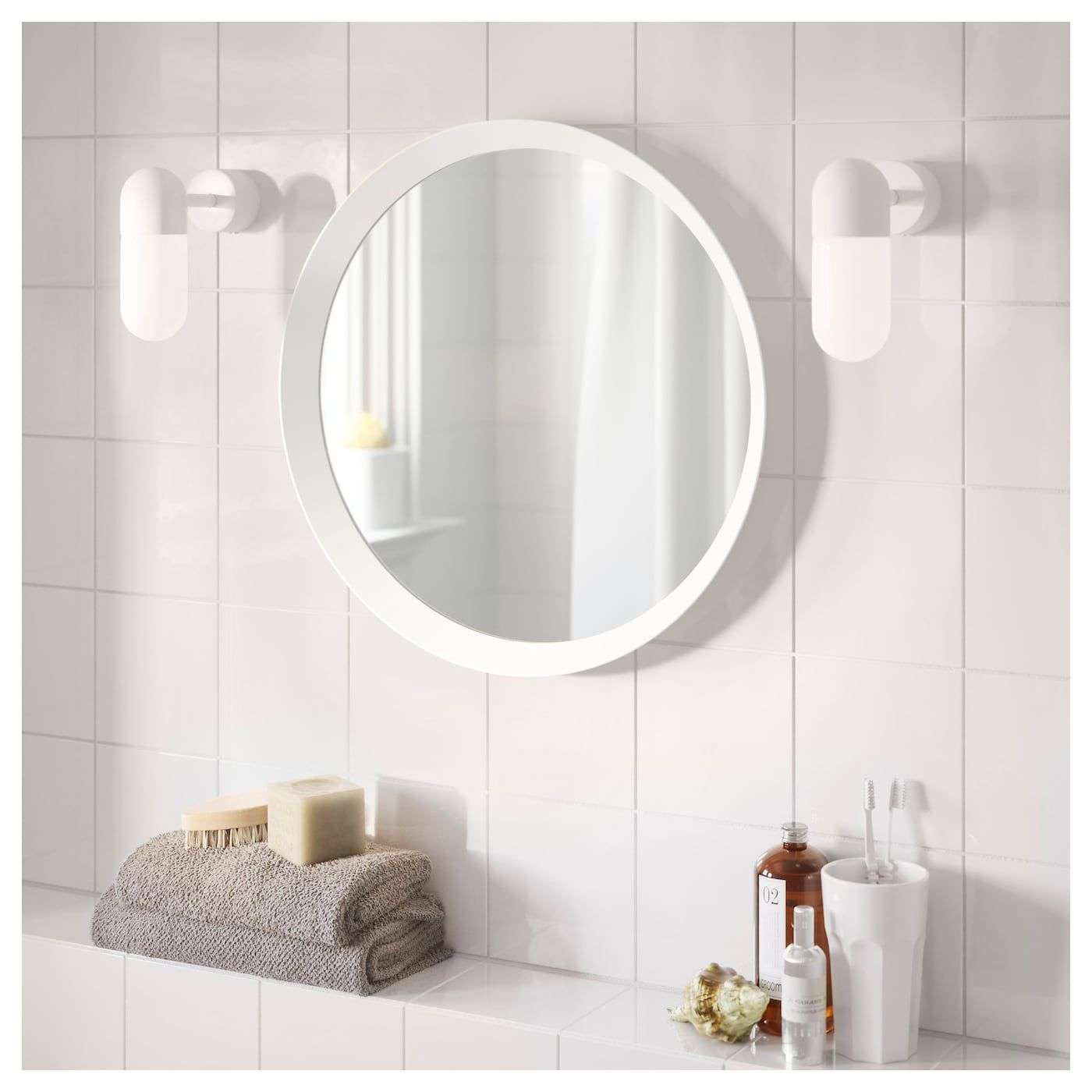 Langesund Mirror White Ikea Round Mirror Bathroom Bathroom