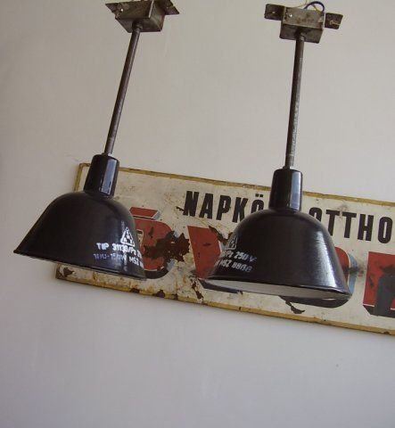 Old industrial lamps