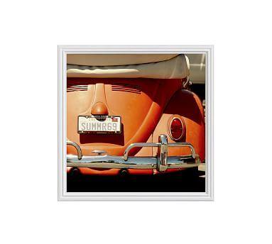 "Orange Crush by Cindy Taylor, 25 x 25"", Ridged Distressed Frame, White, No Mat"