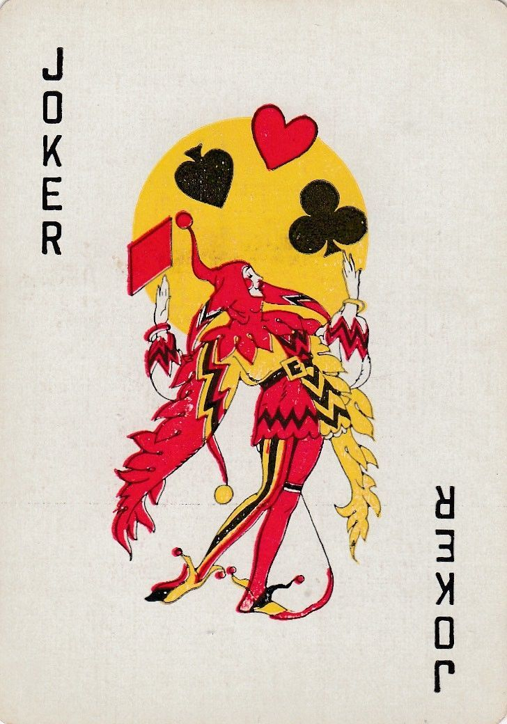 Joker Design 1old Wide Single Vintage Playing Cards Collectibles Paper Playing Cards Ebay Joker Card Tattoo Joker Card Joker Playing Card