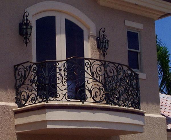 ornamental metal railings, handrails, fences, gates and balconies