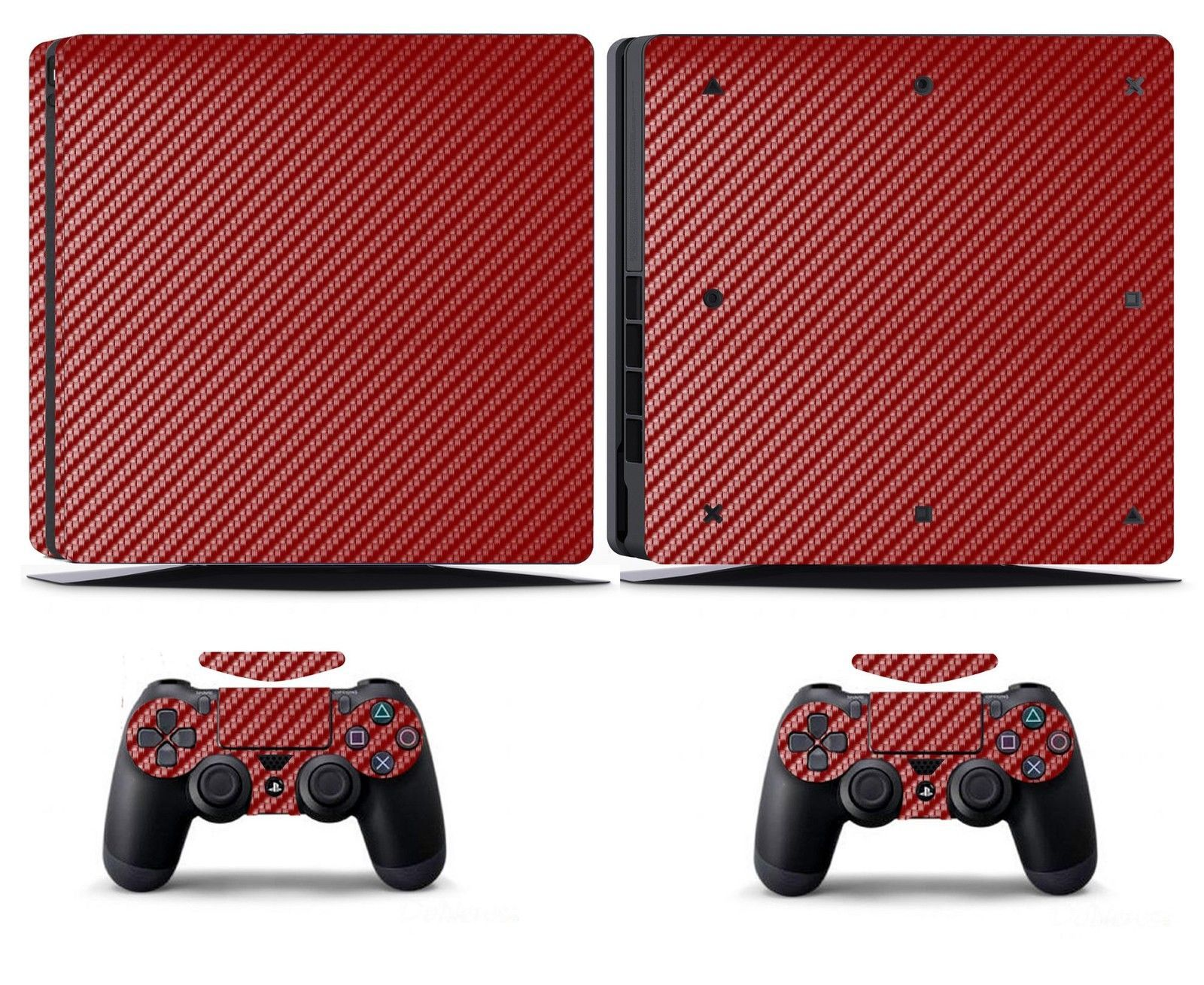 Faceplates, Decals & Stickers Red Carbon Fiber Vinyl Skin Sticker Cover For Sony Ps4 Slim Playstation 4 Slim