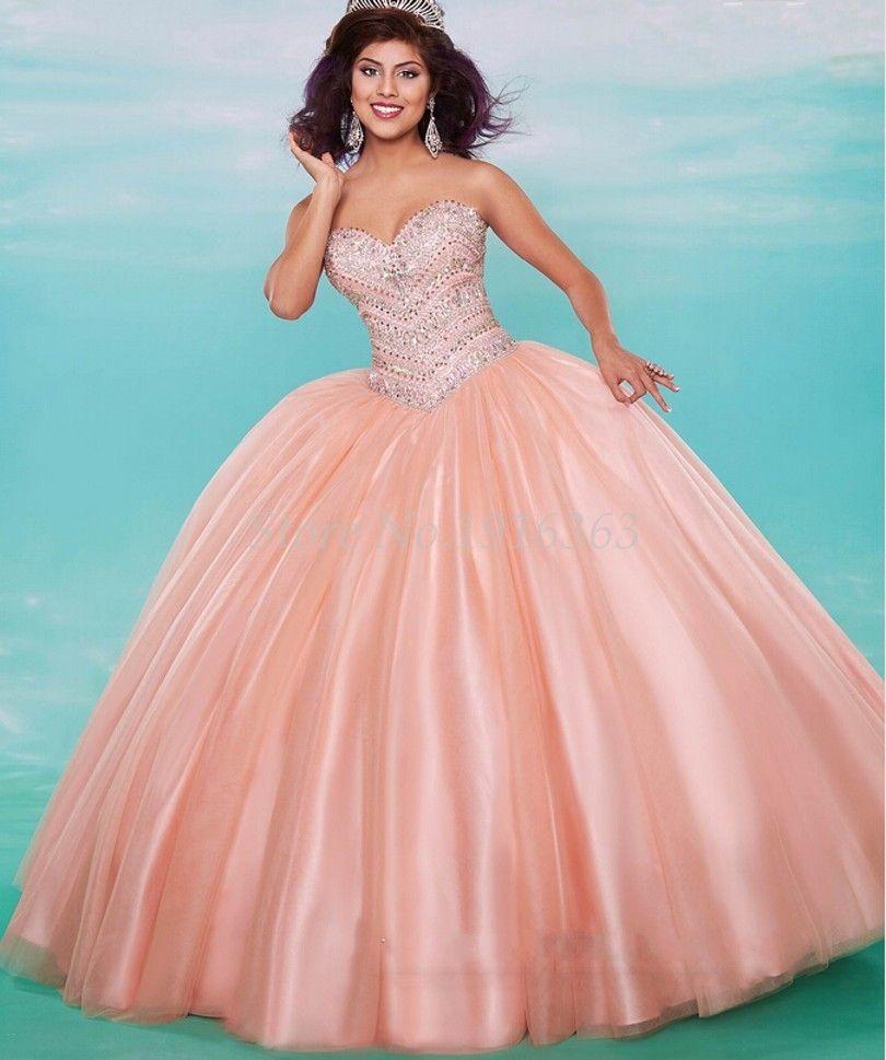 c8ca830c00 Luxurious 2017 Quinceanera Dresses Beaded Crystals Elegant Vestidos ...