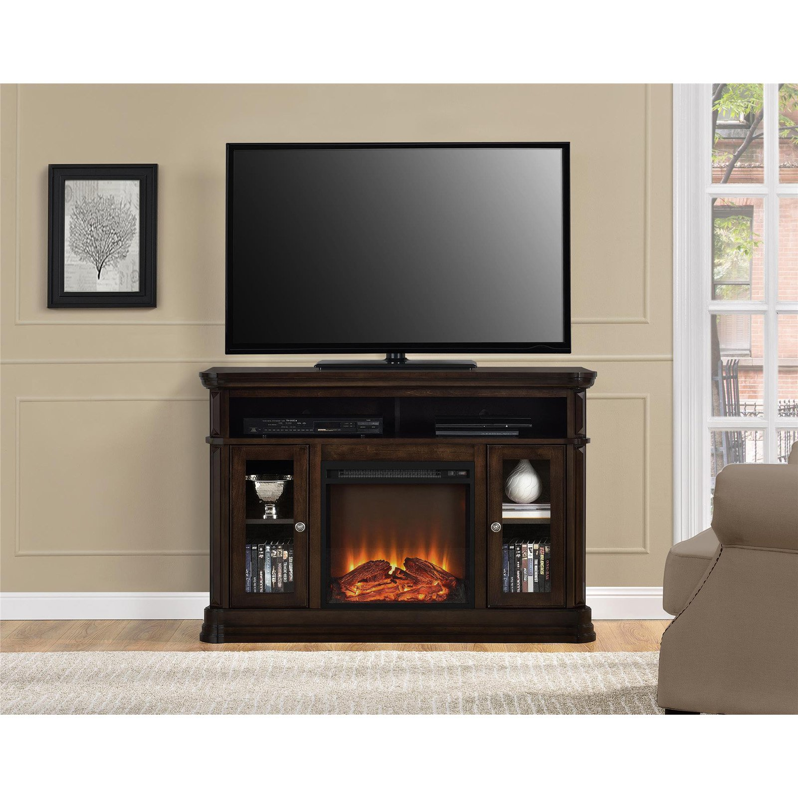 Ameriwood Home Chicago Electric Fireplace Tv Console Fireplace