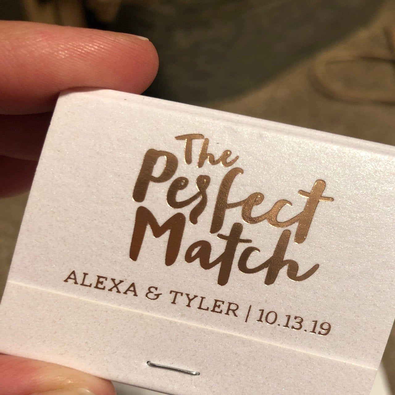 The Perfect Match Wedding Matchbook Personalized Wedding