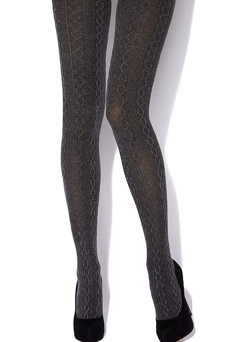 c72a6fb096742 Charnos Cotton Cable Tights | Cable knit tights | Cable knit tights ...
