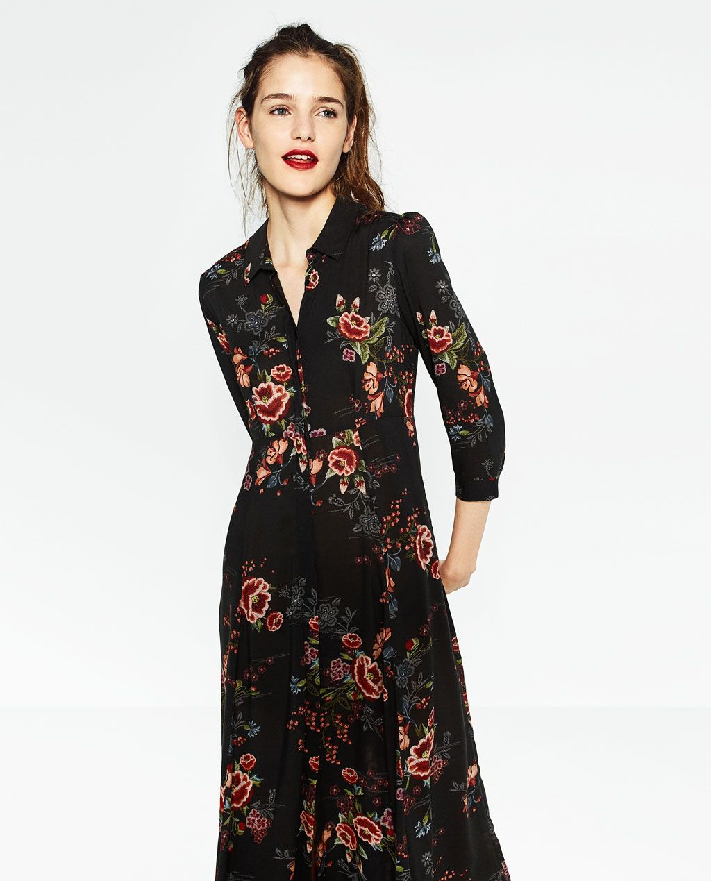 Robe Longue Imprimee Robes Femme Zara France Dressing