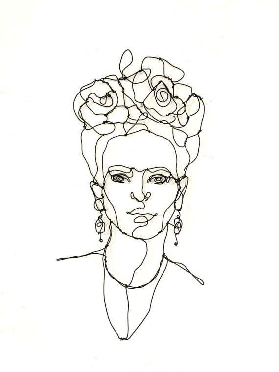 Frida Kahlo Draht Skulptur Porträt Wohnkultur Draht | DIY Ideen ...