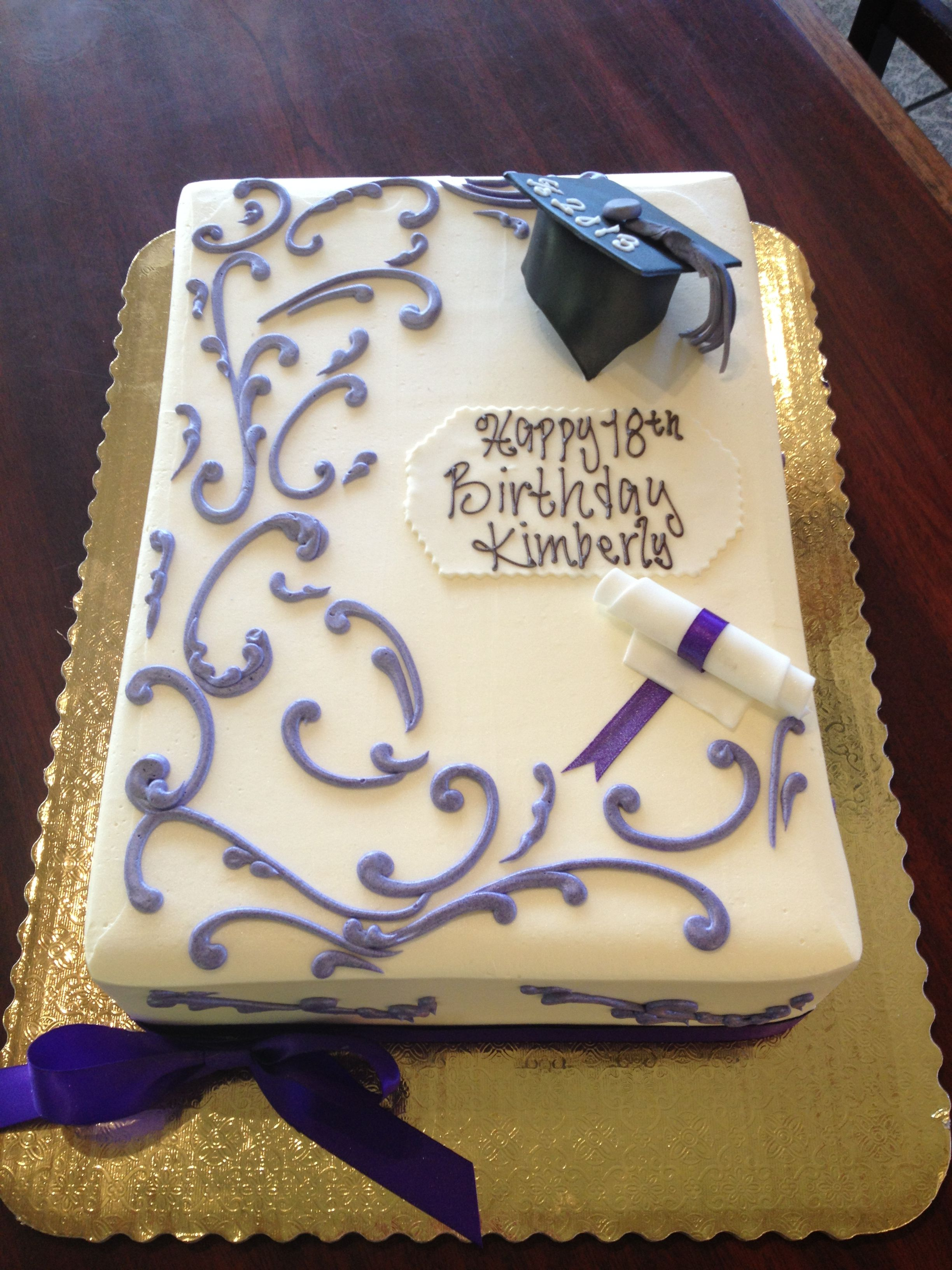 Birthday Graduation Combo Scrolling Sheet Cake With Images