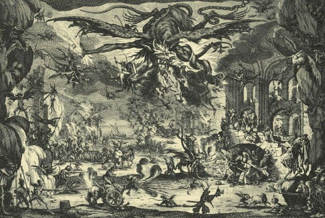 Jacques Callot. Temptation of St. Anthony. 1690.