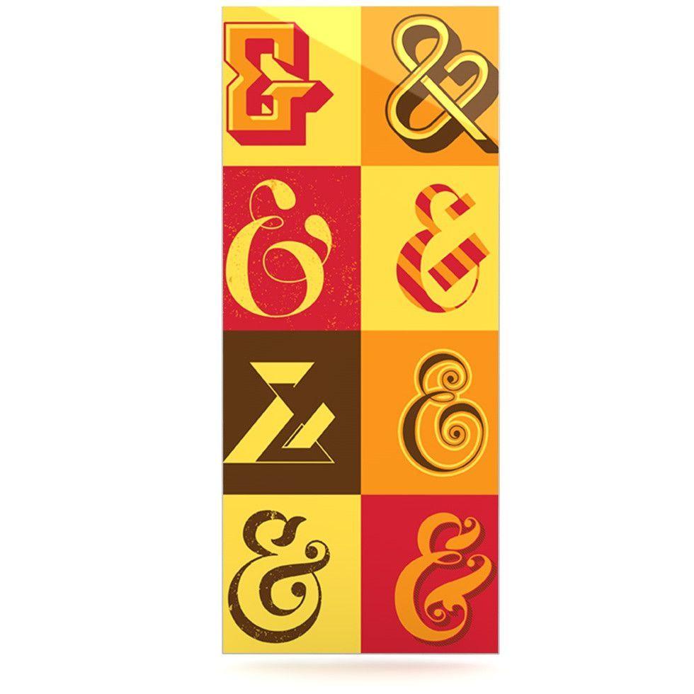 "Roberlan ""Ampersands"" Typography Luxe Rectangle Panel | KESS InHouse"