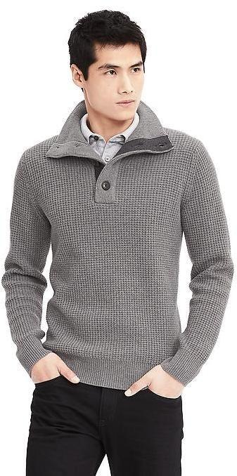 52273aaffa6e Heritage Button Mock Pullover   Rugged Rascal - The Stylish Man ...