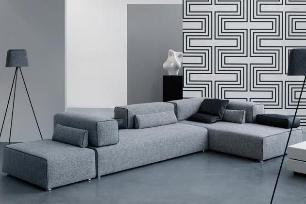 die 25 besten ecksofa grau ideen auf pinterest ecksofa sofa und ecksofa design. Black Bedroom Furniture Sets. Home Design Ideas