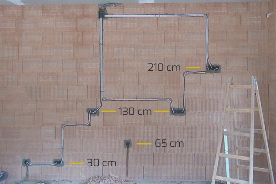 Die Hohe Von Steckdosen Und Schaltern Bei Der Elektroinstallation Diybook At Elektroinstallation Hausverkabelung Elektro