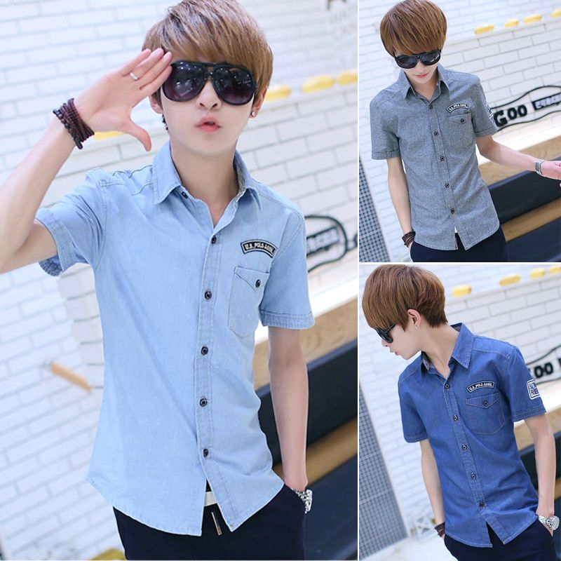 Find More Casual Shirts Information about 2014 Hot Long Solid Regular Single Breasted Flannel Denim Shirt 14 New Spring And Summer Fashionable Men's Coats Slim Juvenile,High Quality Casual Shirts from RAINBOW HALL on Aliexpress.com
