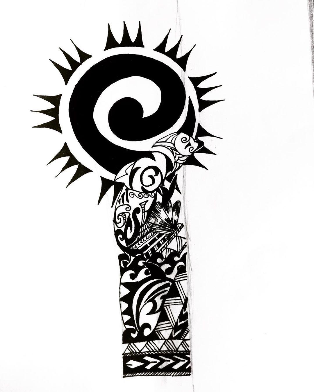 "X on Instagram: ""I could be your tattoo designer All you gotta do is dm 😉 . #tattooideas #sleevetattoo #polynesiantattoo #oceantattoos #mandalatattoo…"""